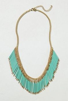 Anthropologie	Fringed Quills Necklace
