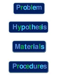 science fair project printable headings