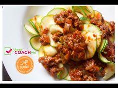 Meaty Zucchini Spaghetti. Weight Loss Surgery Recipes. Bariatric Friendly. FoodCoachMe.