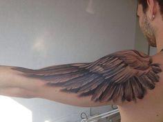 hot dope perfect tattoos inked tattoo boy amazing ink tattooed sleeve Wings