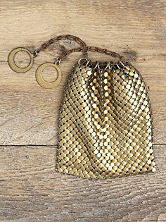 Vintage Bronze Chainlink Mini Purse in Vintage-Loves-Pearl-Jam