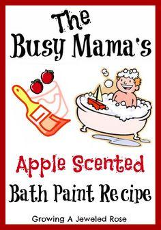 apple scented bath paint recipe