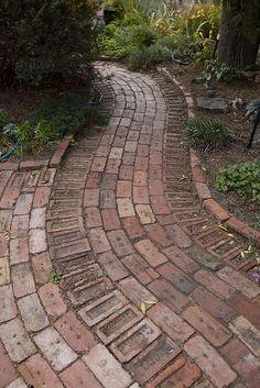 Recycled brick path, via Flickr.