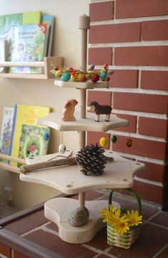 Set up a nature table or area in your home. {Spring Nature Table}