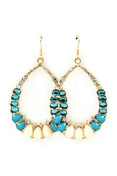 Fiola Teardrop Chandelier Earrings