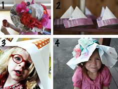 paper hats crafts... craft, party hats, paper hats, kid
