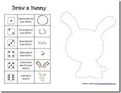 Build a Bunny Printable Game printabl game, dice games