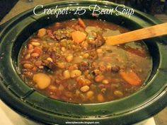 Kylee Cooks: Crockpot: 15 Bean Soup
