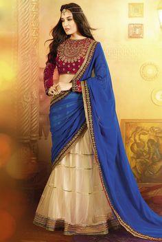 Designer #Lehenga Style #Saree