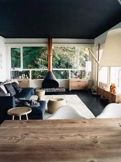 interior, idea, living rooms, fireplaces, colors, back porches, windows, ceilings, wood stoves
