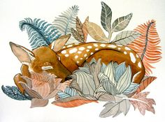 Oh Deer  Archival Print by RiverLuna on Etsy, $10.00