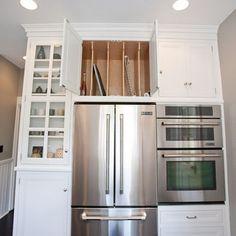 Cookie Sheet Storage above recessed refrigerator