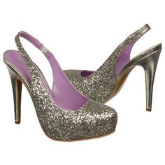 It's all about the glitz and glam in the silver DIVA slingbacks from Fergie.