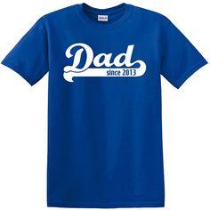 Papa puisque T-shirt-papa T Shirt, nouveau papa pour 2013 (toute l'année) hommes, papa à être chemise, père du jour, cadeau d'anniversaire, ...