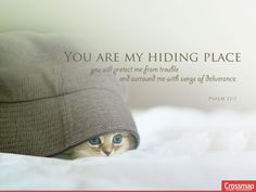 """""""You are my #hiding #place;  you will #protect me from #trouble  and surround me with #songs of #deliverance.""""  #Psalm 32:7 #Jesus #Christ #Crossmap #background #wallpaper  More at http://backgrounds.crossmap.com/"""