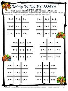 Worksheets Math Game Worksheet math game worksheets kindergarten halloween turkey games addition and subtraction fun board for