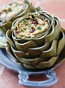 Millet-Stuffed Artichokes- I would love to try this! But I would eat this with some form of protein.