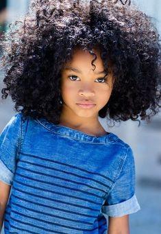 curly hair, kid