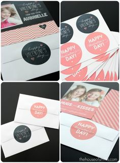 adorable custom Valentine's cards and labels from Brightside Prints