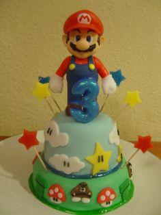 Do It Yourself Mommy SUPER MARIO BIRTHDAY CAKE cakepins.com