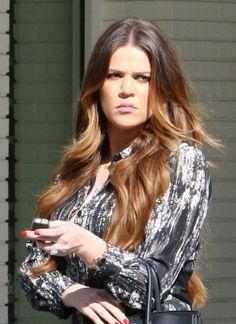 Khloe Kardashian rocks ombre highlights