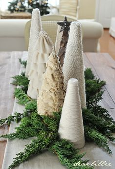house tours, christmas centerpieces, christmas tables, white christmas, dear lilli, table runners, diy christmas tree, christmas trees, christmas houses