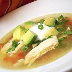 Avocado Soup with Chicken and Lime Allrecipes.com