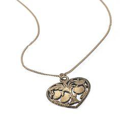 Golden heart pendant necklace.  #Fair #Trade