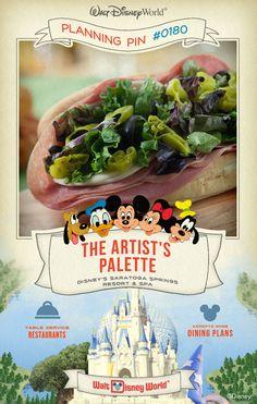 Walt Disney World Planning Pins: The Artist's Palette