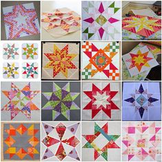 Links to star tutorials: great blocks to make from scraps!