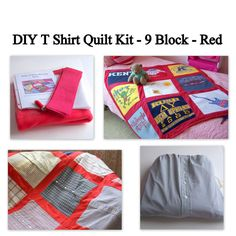DIY T Shirt Quilt Kit  9 Block  T Shirt Memory Quilt by MaidenJane, $55.00