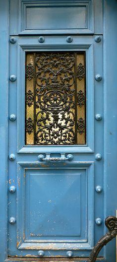 French blue door ~Paris