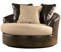 Logan - Stone Oversized Swivel Chair