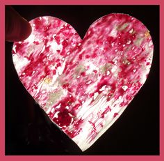 Happiness is a Crock of Beans: Stained Glass Hearts (an easy Valentine craft)