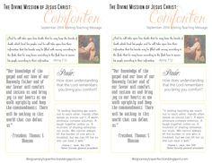September 2014 Visiting Teaching Message : The Divine Mission of Jesus Christ: Comforter