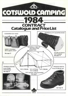 Cotswold Outdoor catalogue archive: 1984