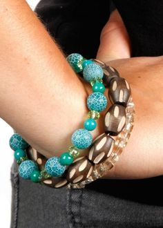Add some Tribal Glitz to your fall look with a quick and easy bracelet. | shop supplies @joannstores