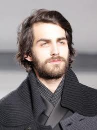 peinados hombres pelo largo perfil