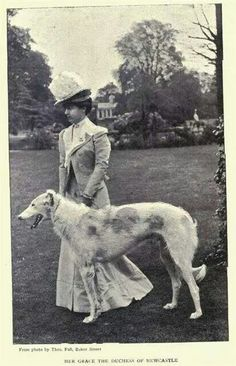 Lady with borzoi.