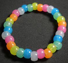 Glow in the dark pony beads
