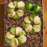 Mint Chocolate Chip-Vanilla Wreaths