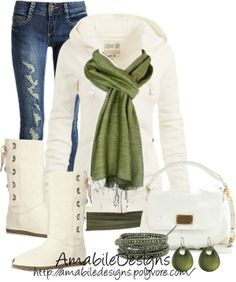 """A White Valentines Day ...."" by amabiledesigns on Polyvore"