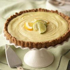 Lemon Tart with Ginger-Oat Crust tart, diabetic living, diabetic friendly, dessert recipes, pie crusts, diabetic desserts, diabetic recipes, diabet recip, lemon recipes
