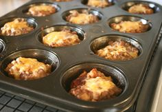 muffin tin meatloaf. bake and freeze?