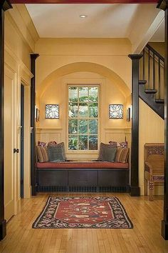 tradit entryway, dream, window seats