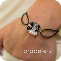 How cute...you can order kits from this site to make custom photo bracelets, etc.