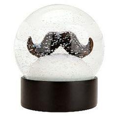 Mustache Snowglobe