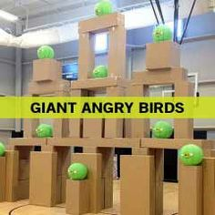 Giant Angry Birds - Fun Ninja Youth Group Games