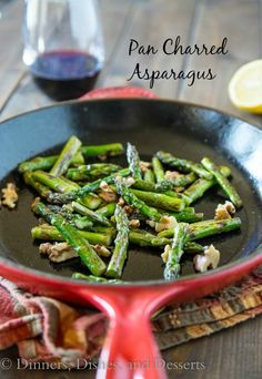 Pan Charred Asparagus with Toasted Almonds