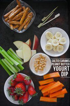 Salted Caramel Peanut Butter Yogurt Dip